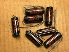 7 NOS Sprague Black Beauty .02 uf 600v Capacitors Vintage Amp Caps TEST .022
