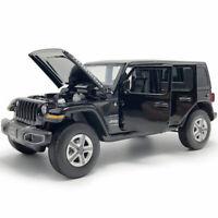 1:32 Jeep Wrangler Sahara Rubicon SUV Model Car Diecast Toy Vehicle Kids Black