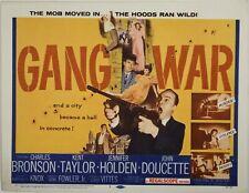 16mm Film GANG WAR Film Noir B Crime Charles Bronson 1958 b/w