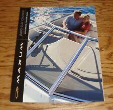Original 2001 Maxum 2400 Sun Cruiser Boat Foldout Sales Brochure 01