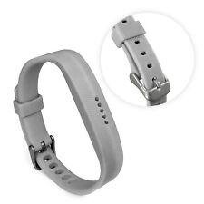 TUFF LUV Adjustable Silicone strap Bracelet Wrist Band For FitBit Flex 2 - Grey