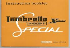 Lambretta SX200 Instruction Booklet