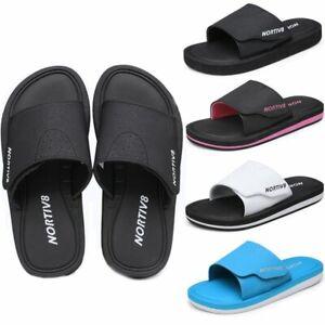 Women Slide Sandals Memory Foam Comfort Lightweight Sport Beach Sandals White US