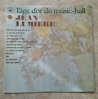 """33T Jean LUMIERE Vinyle LP 12"""" L'AGE D'OR DU MUSIC-HALL - NOSTALGIE - CBS 52484"""