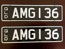 AMG 136 private car number plate QLD