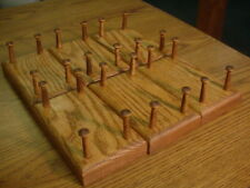 "LOT 6 OAK DUCK DECOY STANDS WOOD DISPLAY 1-1/2"" PEGS STAINED"