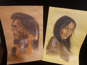 2 Native American Bill Hampton Reproductions By Bill Nieschalk 1979
