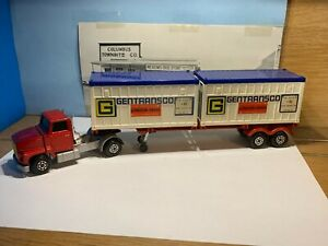 MATCHBOX LESNEY SUPER KINGS FORD LTS TRACTOR W/K17 TRAILER & 2 CONEX CONTAINERS