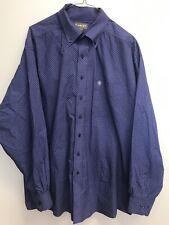 ARIAT Men's Long Sleeve Button Down Shirt Size XXL Purple