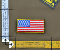 "Ricamata / Embroidered Patch Forward ""USA Flag"" with VELCRO® brand hook"