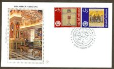 Vatican City Sc# 1449-50, Reopening of Vatican Library, First Day Cover