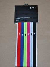 Nike Swoosh Sport Women's Headbands 2.0 Assorted 6 Pack - Variety of Color
