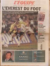 L'Equipe du 28/6/2002 - Coupe du monde de football : Allemagne- Brésil - Escudé
