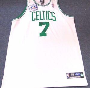 VINTAGE REEBOK NBA BOSTON CELTICS AUTHENTIC AUTO AL JEFFERSON JERSEY SIZE 48