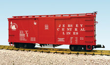 Usa Trains G Scale 1445A Outside Braced Box Car Jersey Central #66892 - Red