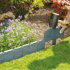 Instand Hammer In 40X Garden Lawn Cobbled Stone Effect Edging Border Soil Mould