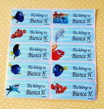 40 NEMO Personalized Waterproof Name Labels-SCHOOL,DAYCARE(Buy 5 get 1 FREE)