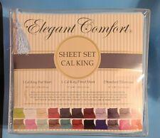 Elegant Comfort 1500 TC Egyptian Cotton Cal King Sheet Set Light Blue