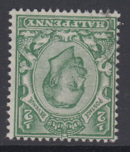 SG 346wk 1/2d Green Watermark Multiple Cypher Inverted and Reversed in VFU-CDS
