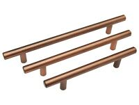 COPPER T BAR HANDLE KITCHEN BEDROOM CUPBOARD DRAWER FURNITURE