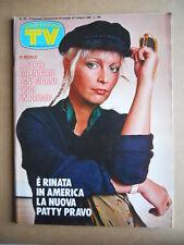 TV Sorrisi e Canzoni n°22 1982 Patty Pravo Popcorn Quarterflash  [G589]