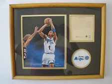 ORLANDO MAGIC #1 ANFERNEE HARDAWAY NBA 1994 LITOGRAPHIC PRINT  FRAMED NICE