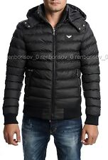 Emporio Armani Men's Hooded Jacket T-Shirt Black Color size XS BNWT