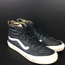 Vans Womens Shoes Size 8 US 721278 Cheetah Leopard Skin Rear Zipper Old Skool