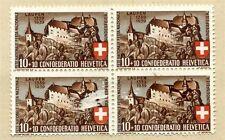 Mint Hinged Swiss Stamp Blocks