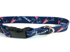 """New England Patriots Small Dog Collar 10"""" to 14"""" Officially Licensed NFL Product"""