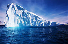 Framed Print - Massive Floating Antarctic Iceberg (Picture Poster Arctic Art)