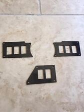 POLARIS RZR DASH SWITCH PLATES PANELS Gloss Black FITS ALL XP RZR XP1000 2014+