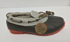 Jambu Gwen Rain Shoes, Taupe/Coral, Women's 6.5 M
