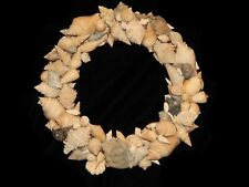 """FLORIDA FOSSIL SEASHELL MIRROR 11 3/4"""" x 11"""" 1/2""""- ONE OF A KIND & SIGNED- 5934"""