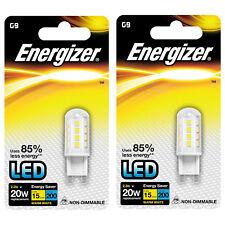 2 x Energizer G9 20W /2.3W 22x LED Capsule Bulb Warm White Uses 85% less energy