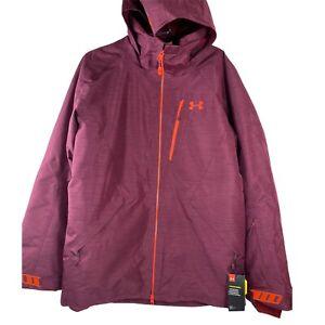 NWT UA Under Armour Stormproof Gridline Jacket Mens L Large RED Waterproof $240