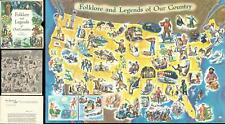 1960 Soltesz Pictorial Map of American Folklore and Legends