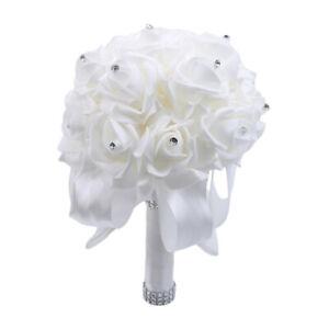 Bridal Bridesmaid Bouquet Flowers Ribbons Artificial Bouquets Wedding Decor Lin