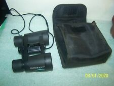 Bushnell 4 x 30 Powerview Insta Focus Binoculars w/ Case Compact Portable