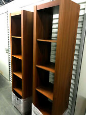 Pair of Wood Laminate BoConcept Bookshelves, 5 shelves each, very good condition
