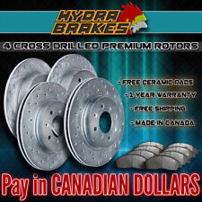FITS 2004 2005 GMC SAFARI 330MM Drilled Brake Rotors CERAMIC SLV