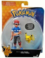 POKEMON ASH + PIKACHU FIGURE SET MULTIPLE POINTS OF ARTICULATION MOSC TOMY 2017