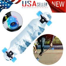 Longboard Skateboard 31inch Pro Drop Through Complete Maple Cruiser Flash Wheel