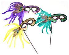 12 Mardi Gras Centerpiece Decoration Decorating Masquerade Party Masks Feather