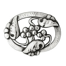 Georg Jensen Silver Brooch # 101 - MOONLIGHT GRAPES
