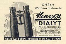 Jumelles Hensoldt dialyt terrestre NOËL 1938 (N)