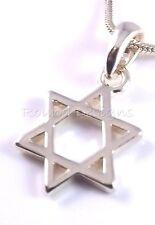 Etoile De David Magen Judaica Collier Kabbale Pendentif Or Israël Juif
