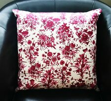 """NEW Authentic GUCCI FLORA floral Decorative Pillow 19"""" Large White and Purple"""