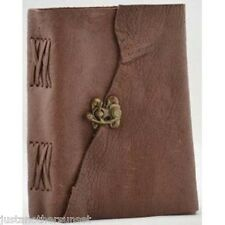 Buffalo Hunter leather Blank Book Journal Diary Sketch with metal lock latch new