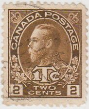 Stamp (CA44) 1916 CANADA 2c 1c Brown George V SG239